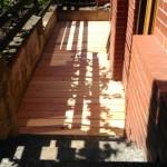 Dřevěná venkovní podlaha